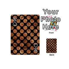 Circles2 Black Marble & Brown Stone Playing Cards 54 (mini) by trendistuff