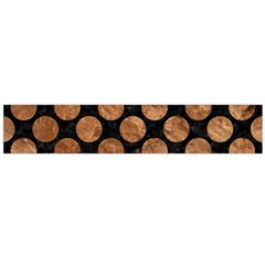 Circles2 Black Marble & Brown Stone Flano Scarf (large) by trendistuff