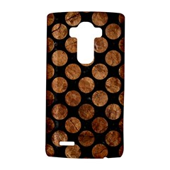Circles2 Black Marble & Brown Stone Lg G4 Hardshell Case by trendistuff