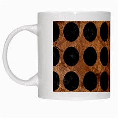 Circles1 Black Marble & Brown Stone (r) White Mug by trendistuff