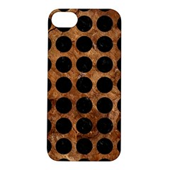 Circles1 Black Marble & Brown Stone (r) Apple Iphone 5s/ Se Hardshell Case by trendistuff
