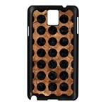 CIRCLES1 BLACK MARBLE & BROWN STONE (R) Samsung Galaxy Note 3 N9005 Case (Black) Front