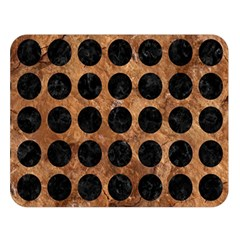 Circles1 Black Marble & Brown Stone (r) Double Sided Flano Blanket (large) by trendistuff