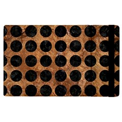 Circles1 Black Marble & Brown Stone (r) Apple Ipad Pro 12 9   Flip Case by trendistuff