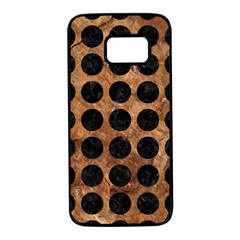 Circles1 Black Marble & Brown Stone (r) Samsung Galaxy S7 Black Seamless Case by trendistuff