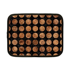 Circles1 Black Marble & Brown Stone Netbook Case (small) by trendistuff