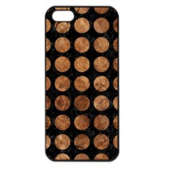Circles1 Black Marble & Brown Stone Apple Iphone 5 Seamless Case (black) by trendistuff