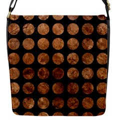 Circles1 Black Marble & Brown Stone Flap Closure Messenger Bag (s) by trendistuff
