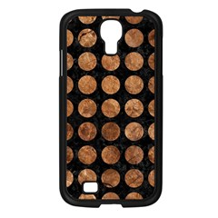 Circles1 Black Marble & Brown Stone Samsung Galaxy S4 I9500/ I9505 Case (black) by trendistuff