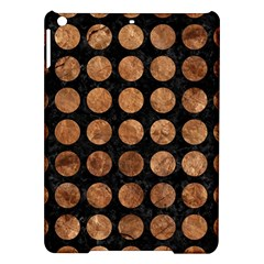 Circles1 Black Marble & Brown Stone Apple Ipad Air Hardshell Case by trendistuff