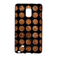 Circles1 Black Marble & Brown Stone Samsung Galaxy Note Edge Hardshell Case by trendistuff