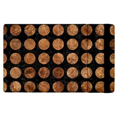 Circles1 Black Marble & Brown Stone Apple Ipad Pro 12 9   Flip Case by trendistuff