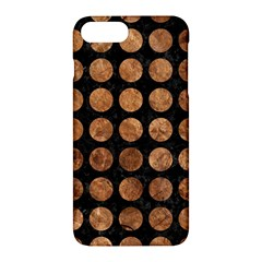 Circles1 Black Marble & Brown Stone Apple Iphone 7 Plus Hardshell Case by trendistuff