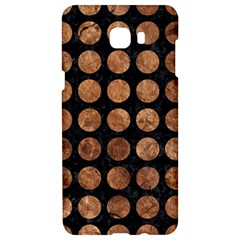 Circles1 Black Marble & Brown Stone Samsung C9 Pro Hardshell Case  by trendistuff