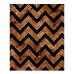 Chevron9 Black Marble & Brown Stone (r) Shower Curtain 60  X 72  (medium) by trendistuff