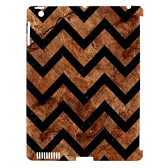 Chevron9 Black Marble & Brown Stone (r) Apple Ipad 3/4 Hardshell Case (compatible With Smart Cover) by trendistuff