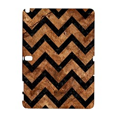 Chevron9 Black Marble & Brown Stone (r) Samsung Galaxy Note 10 1 (p600) Hardshell Case by trendistuff