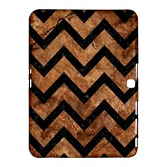 Chevron9 Black Marble & Brown Stone (r) Samsung Galaxy Tab 4 (10 1 ) Hardshell Case  by trendistuff