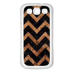 Chevron9 Black Marble & Brown Stone Samsung Galaxy S3 Back Case (white) by trendistuff