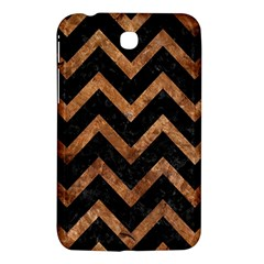 Chevron9 Black Marble & Brown Stone Samsung Galaxy Tab 3 (7 ) P3200 Hardshell Case  by trendistuff