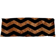 Chevron3 Black Marble & Brown Stone Body Pillow Case Dakimakura (two Sides) by trendistuff