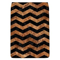 Chevron3 Black Marble & Brown Stone Removable Flap Cover (l) by trendistuff