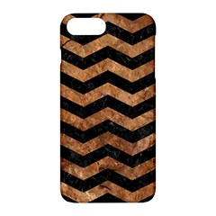 Chevron3 Black Marble & Brown Stone Apple Iphone 7 Plus Hardshell Case by trendistuff