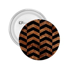 Chevron2 Black Marble & Brown Stone 2 25  Button by trendistuff