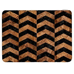 Chevron2 Black Marble & Brown Stone Samsung Galaxy Tab 7  P1000 Flip Case by trendistuff