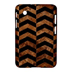 Chevron2 Black Marble & Brown Stone Samsung Galaxy Tab 2 (7 ) P3100 Hardshell Case  by trendistuff