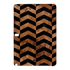 Chevron2 Black Marble & Brown Stone Samsung Galaxy Tab Pro 10 1 Hardshell Case by trendistuff