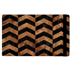 Chevron2 Black Marble & Brown Stone Apple Ipad Pro 12 9   Flip Case by trendistuff
