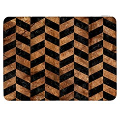 Chevron1 Black Marble & Brown Stone Samsung Galaxy Tab 7  P1000 Flip Case by trendistuff