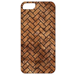Brick2 Black Marble & Brown Stone (r) Apple Iphone 5 Classic Hardshell Case by trendistuff