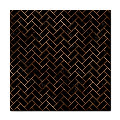 Brick2 Black Marble & Brown Stone Tile Coaster by trendistuff