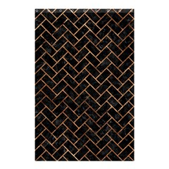 Brick2 Black Marble & Brown Stone Shower Curtain 48  X 72  (small) by trendistuff