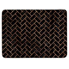 Brick2 Black Marble & Brown Stone Samsung Galaxy Tab 7  P1000 Flip Case by trendistuff