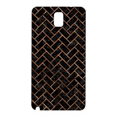 Brick2 Black Marble & Brown Stone Samsung Galaxy Note 3 N9005 Hardshell Back Case by trendistuff