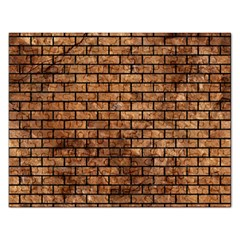 Brick1 Black Marble & Brown Stone (r) Jigsaw Puzzle (rectangular) by trendistuff