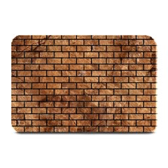 Brick1 Black Marble & Brown Stone (r) Plate Mat by trendistuff