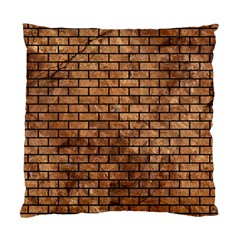 Brick1 Black Marble & Brown Stone (r) Standard Cushion Case (one Side) by trendistuff