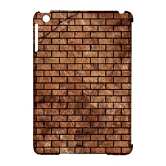 Brick1 Black Marble & Brown Stone (r) Apple Ipad Mini Hardshell Case (compatible With Smart Cover) by trendistuff