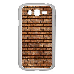 Brick1 Black Marble & Brown Stone (r) Samsung Galaxy Grand Duos I9082 Case (white) by trendistuff