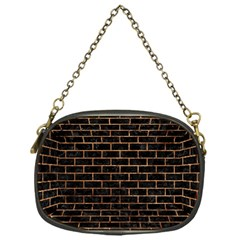Brick1 Black Marble & Brown Stone Chain Purse (one Side) by trendistuff