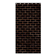 Brick1 Black Marble & Brown Stone Shower Curtain 36  X 72  (stall) by trendistuff