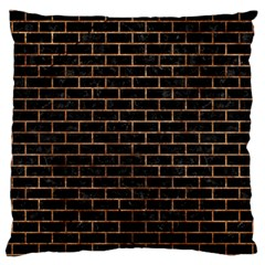 Brick1 Black Marble & Brown Stone Large Cushion Case (one Side) by trendistuff