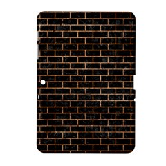 Brick1 Black Marble & Brown Stone Samsung Galaxy Tab 2 (10 1 ) P5100 Hardshell Case  by trendistuff