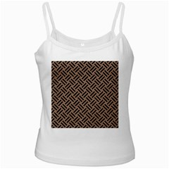 Woven2 Black Marble & Brown Colored Pencil (r) Ladies Camisole by trendistuff