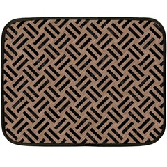 Woven2 Black Marble & Brown Colored Pencil (r) Double Sided Fleece Blanket (mini) by trendistuff