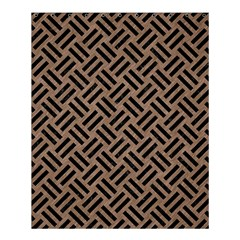 Woven2 Black Marble & Brown Colored Pencil (r) Shower Curtain 60  X 72  (medium) by trendistuff